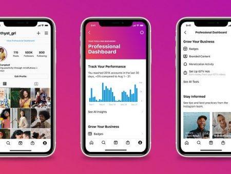 Instagram: presentata la nuova dashboard per aziende e creator
